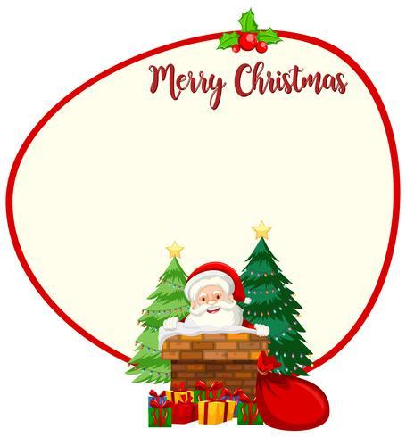 Modèle de carte de Noël