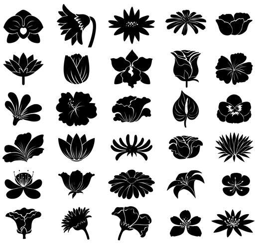Black floral templates