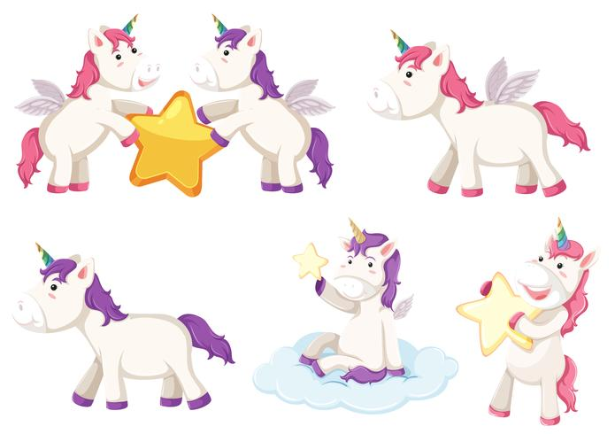 Un personaggio set unicorno