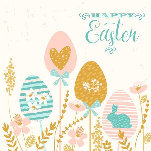 Joyeuses Pâques. Conception de vecteur