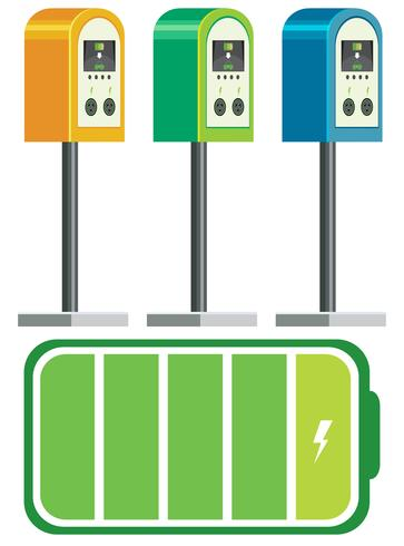 Electric car charger battery