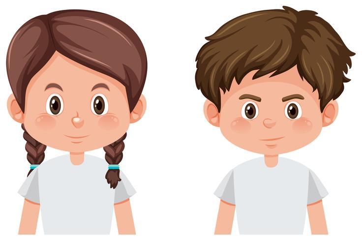 Jongen en meisje karakter