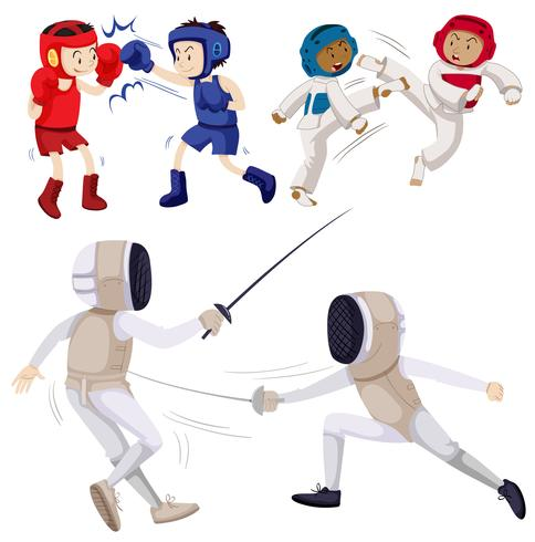 Different kinds of martial arts