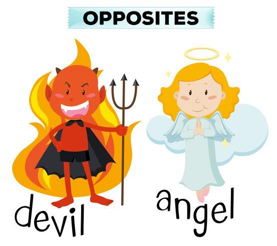 Teufel Und Engel Zeichen Auf Weiß Download Kostenlos