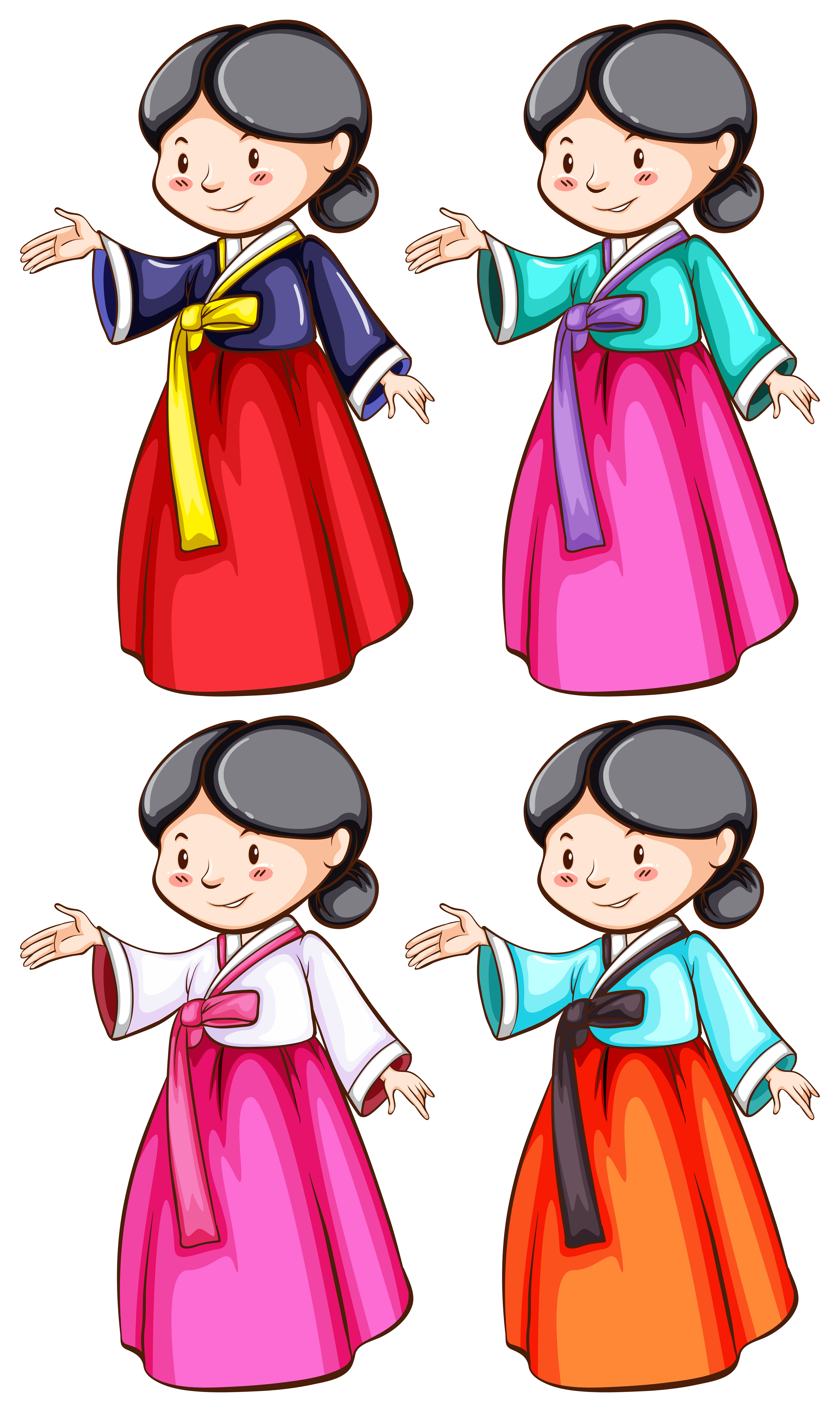 Asian clothing clip art 6