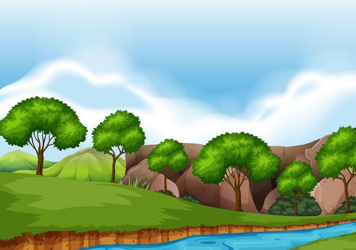 Ett plant naturlandskap