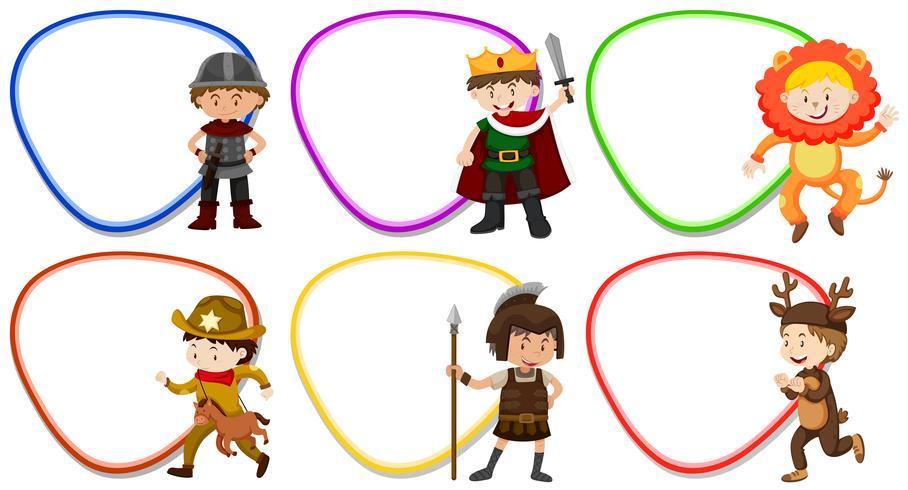 Modelli di cornice con bambini in costume