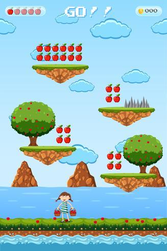 Un modello di gioco di Fruite Picking vettore