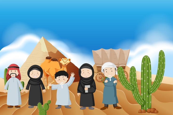 Araber in der Wüste