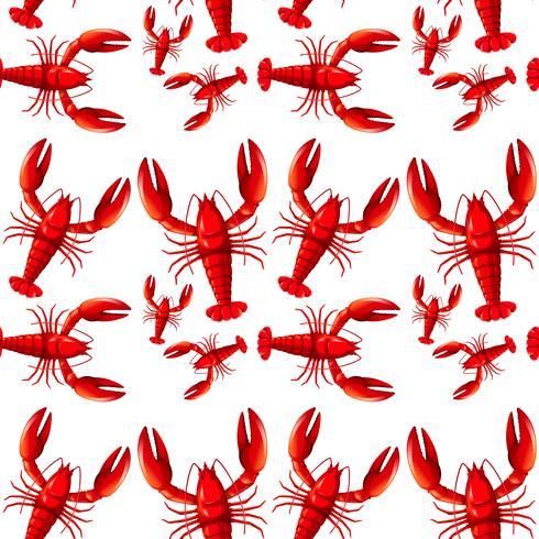 Sealess röd hummer bakgrund