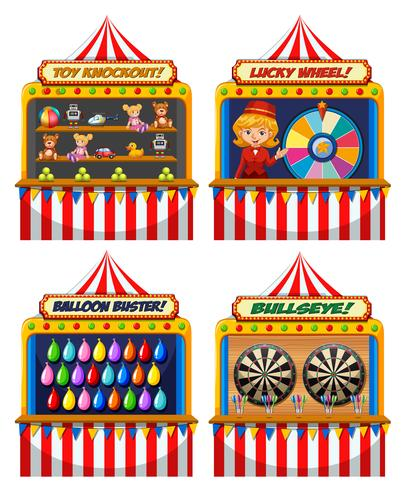 Um conjunto de tenda de diversões
