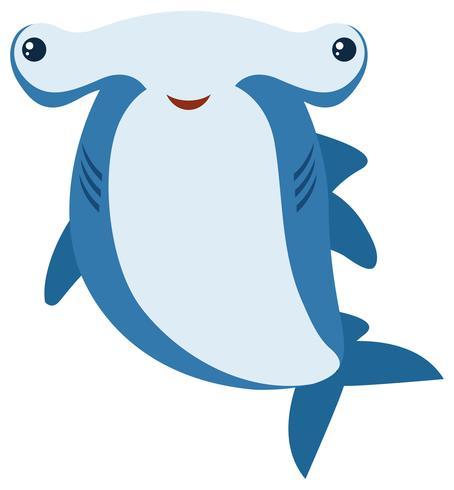 Hammerhead haj med stort leende