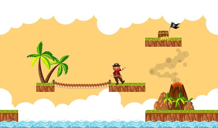 Eine Piraten-Spielvorlage