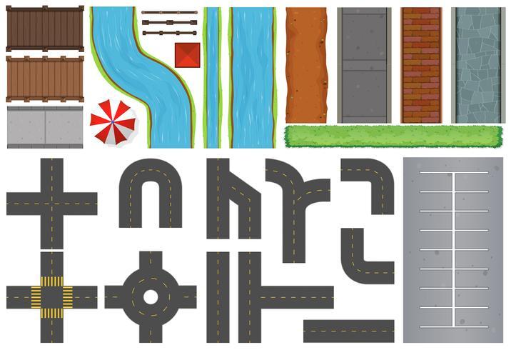 Olika konstruktioner av vägar och trottoarer