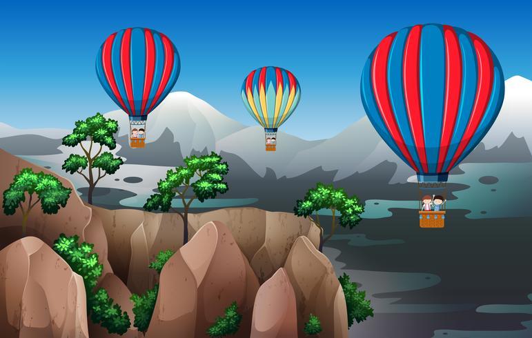 Mit Heißluftballon reisen