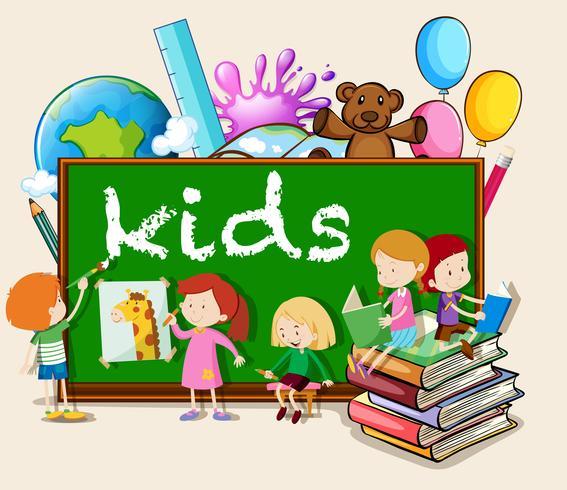 Barn som skriver och läser