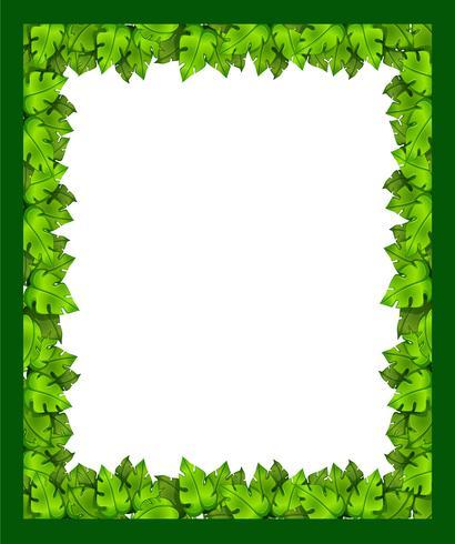 Un borde hecho de hojas.