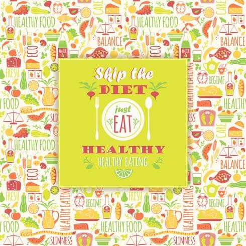 Gesunder Essenhintergrund mit Zitat.