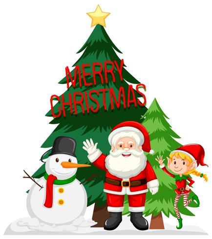 Merry Christmas card concept vector