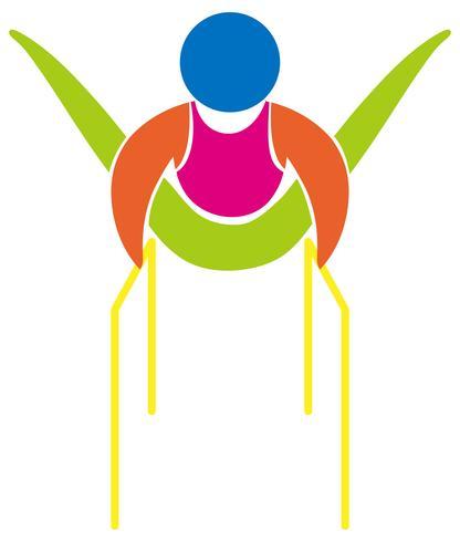 1911bd83d4ec Icono de gimnasia con barras paralelas. - Descargue Gráficos y ...