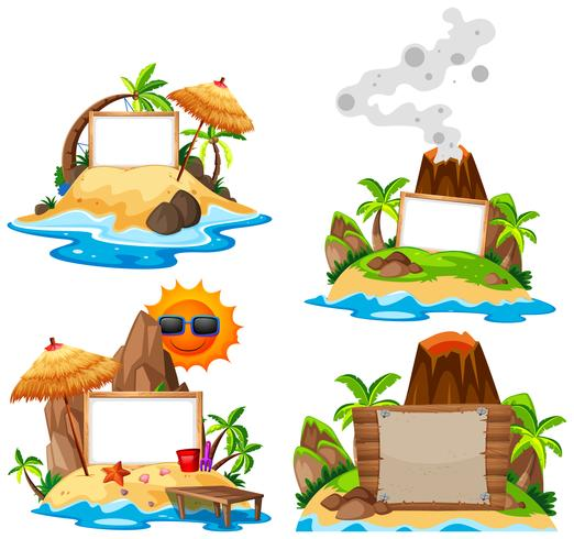 Set on island banner - Download Free Vectors, Clipart ...