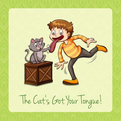 El gato del idioma consiguió tu lengua