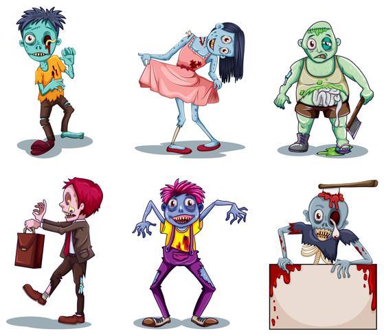 Läskiga zombies