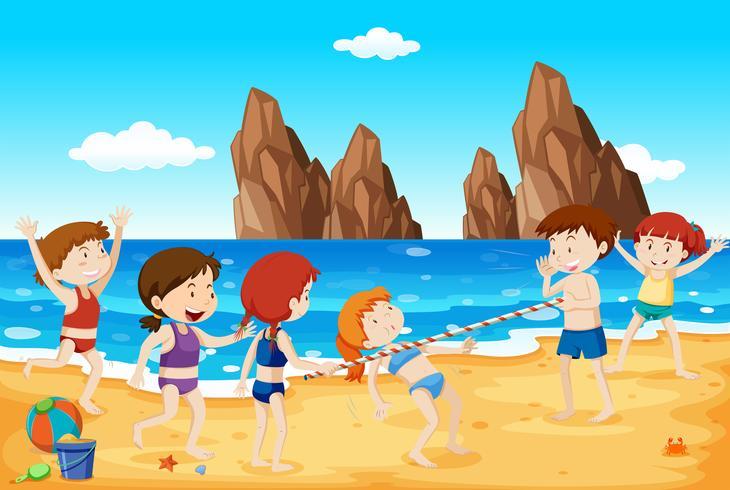 Dança Limbo na Praia