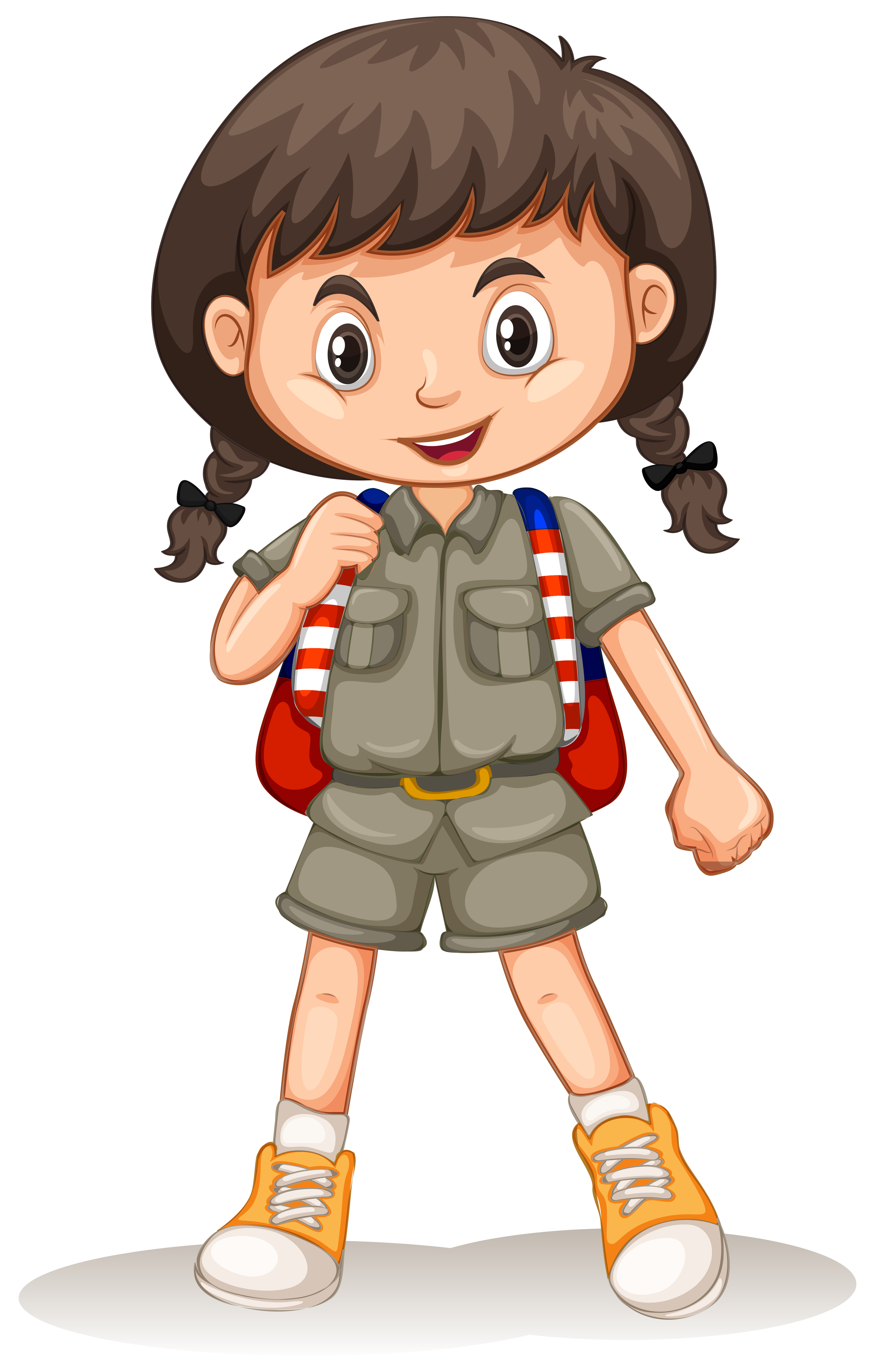 A Cute Zoo Keeper On White Background Download Free