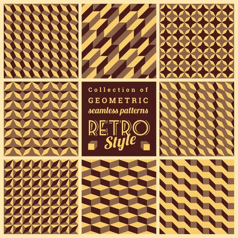 Ensemble de motifs géométriques sans soudure de vecteur. Textures Vintage