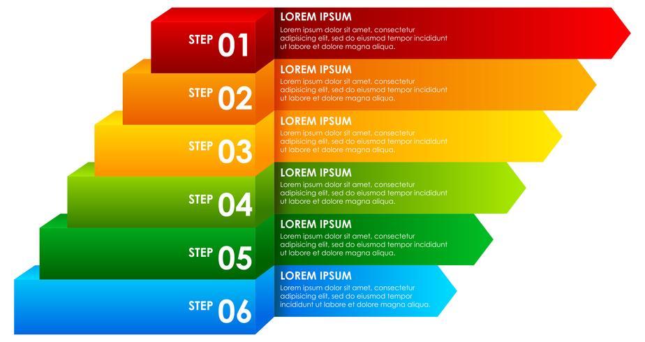 Regenboog aflopende infographic informatie