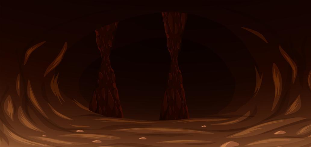 Eine dunkle Gruselhöhle