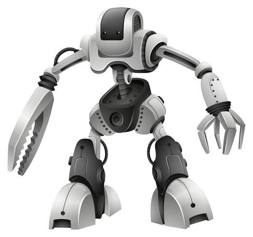 Conception de robot avec des mains d'armes