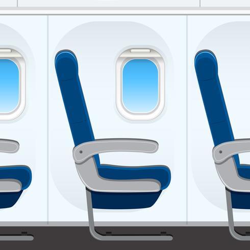 Passesnger assento de avião templaye