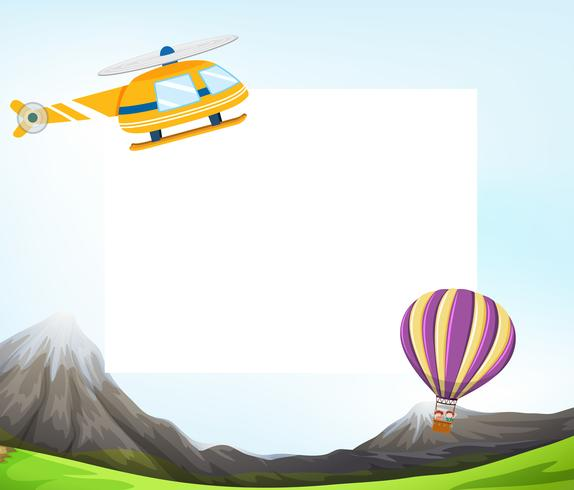 Air transport blank template