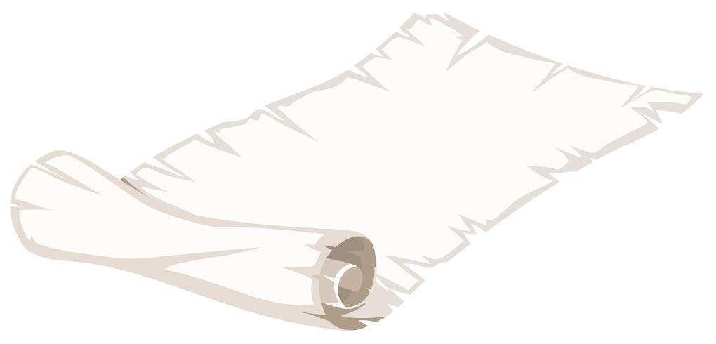 Eine Papierrolle auf weißem Hintergrund