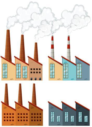 Fabrikgebäude mit Schornsteinen