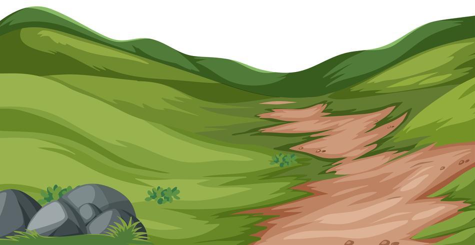 Naturhügel-Landschaftsvektor