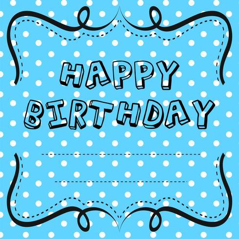 Kartenvorlagendesign für Geburtstag