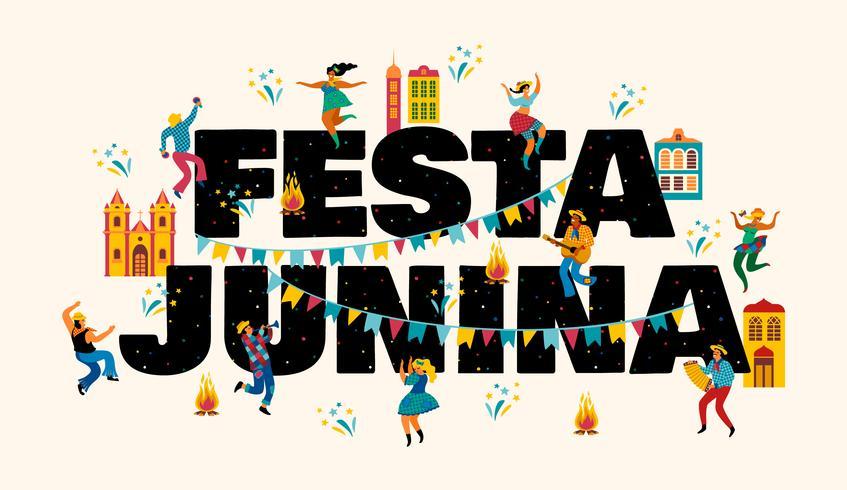 Festa Junina. Vector sjablonen voor banner.