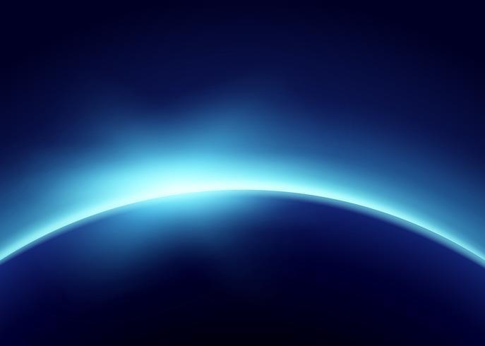 Aarde met blauw licht