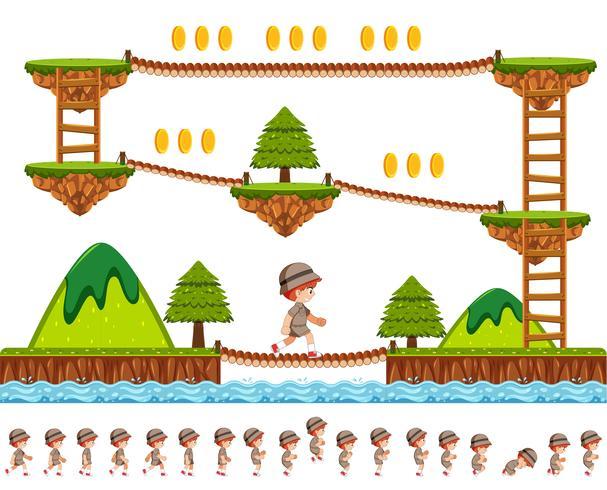 Holzspieldesign mit Zeichentrickfigur