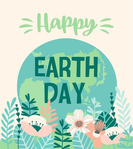 Día de la Tierra. Diseño vectorial