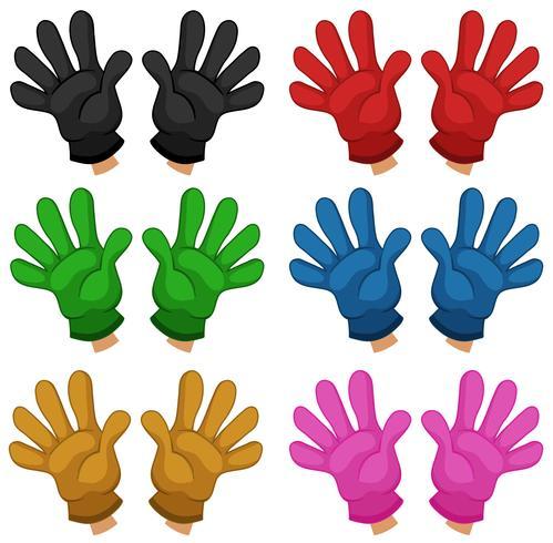 Set verschiedene Handschuhe