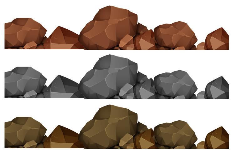 Disegno senza giunte di rocce