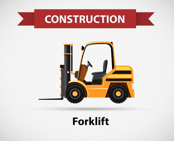 Icon design for construction with forklift truck vector