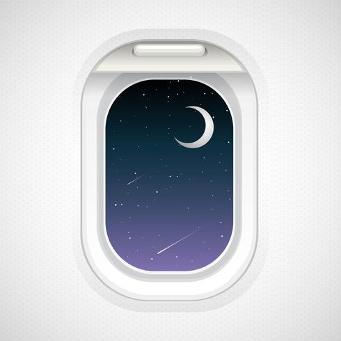 Vista do lado de fora da janela do avião