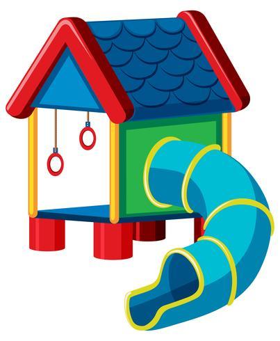 treehouse med glid lekplats