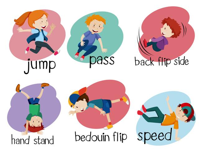 Six Parkour Moves on White Background - Download Free Vector Art, Stock Graphics & Images