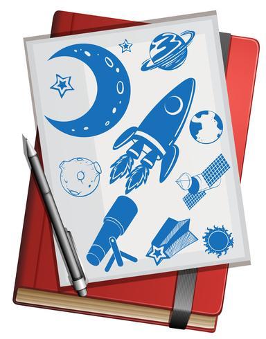 Libro y símbolos de la ciencia.